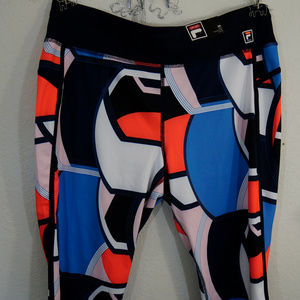 Fila Sport Capris Colorful XL Geometric Mid NWT